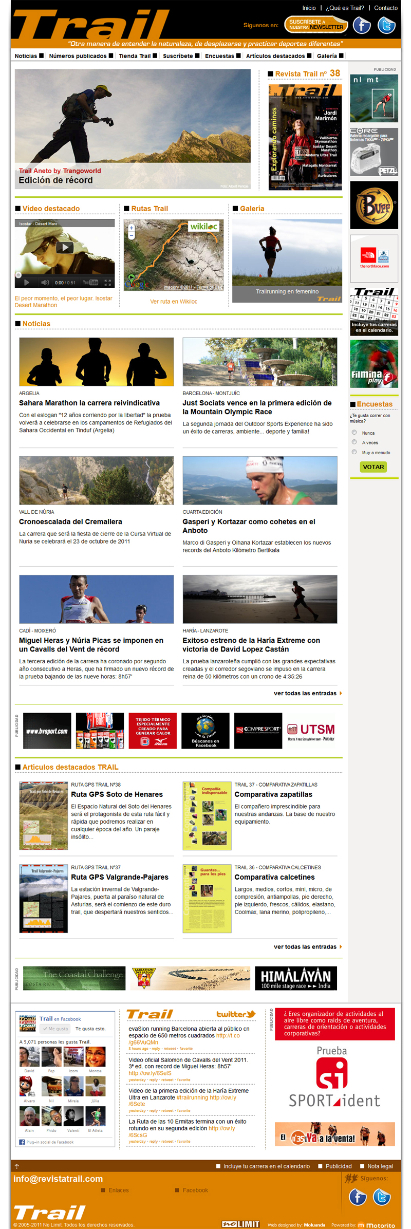Disseny web Revista Trail