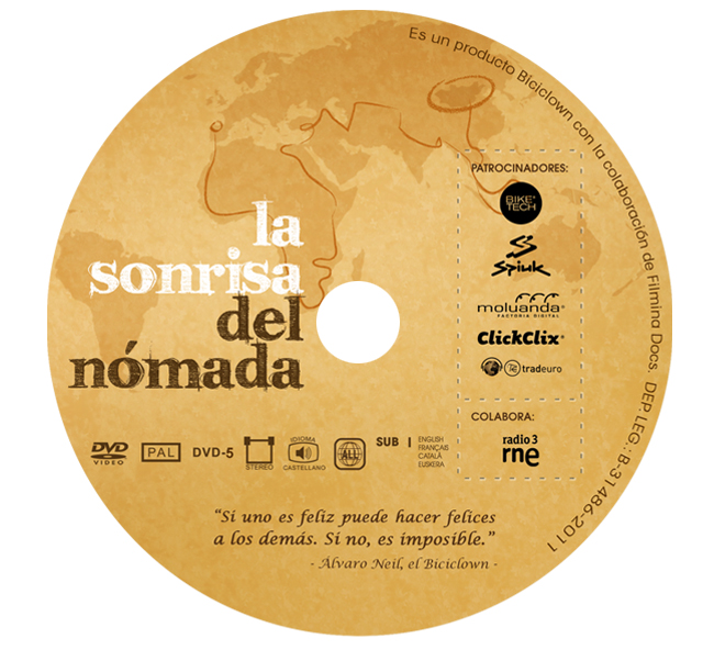 "Disseny galeta DVD documental ""La Sonrisa del Nómada"""