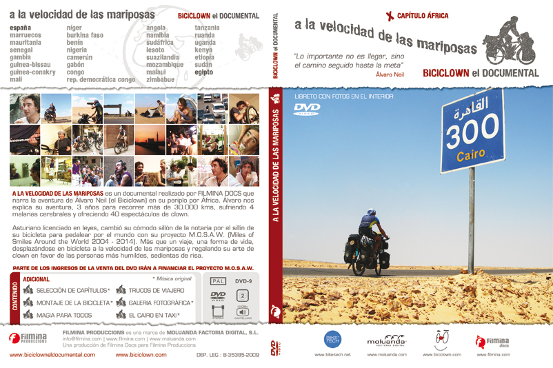 "Disseny packaging documental ""Biciclown, a la velocidad de las mariposas"""